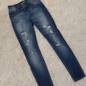 Kancan destroyed high waisted skinny jeans medium